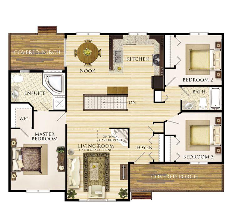 Linwood Floor Plan; like this plan overall.