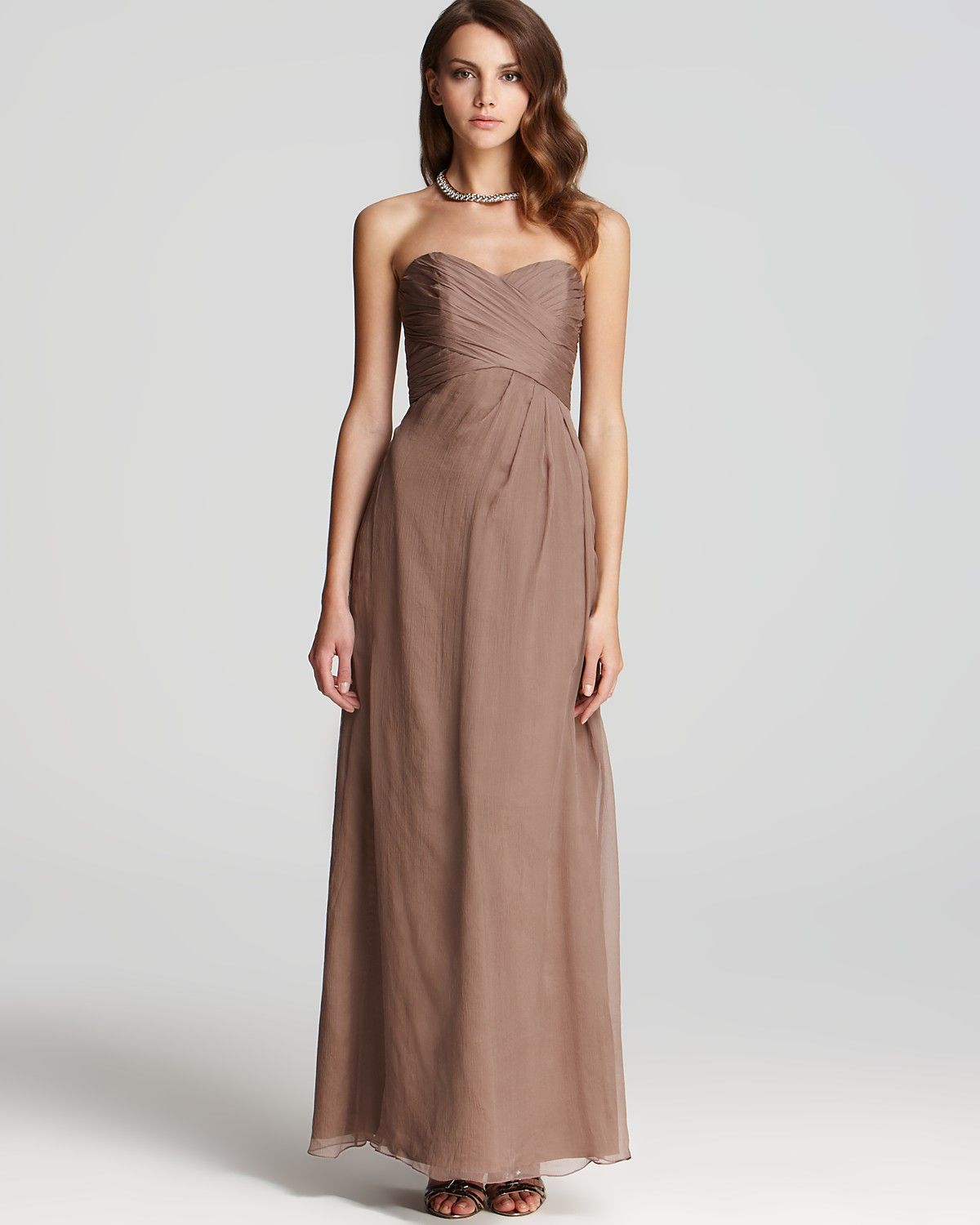 310 amsale strapless dress sweetheart bloomingdales being find this pin and more on being a bridesmaid gorgeous gown by amsale ombrellifo Gallery