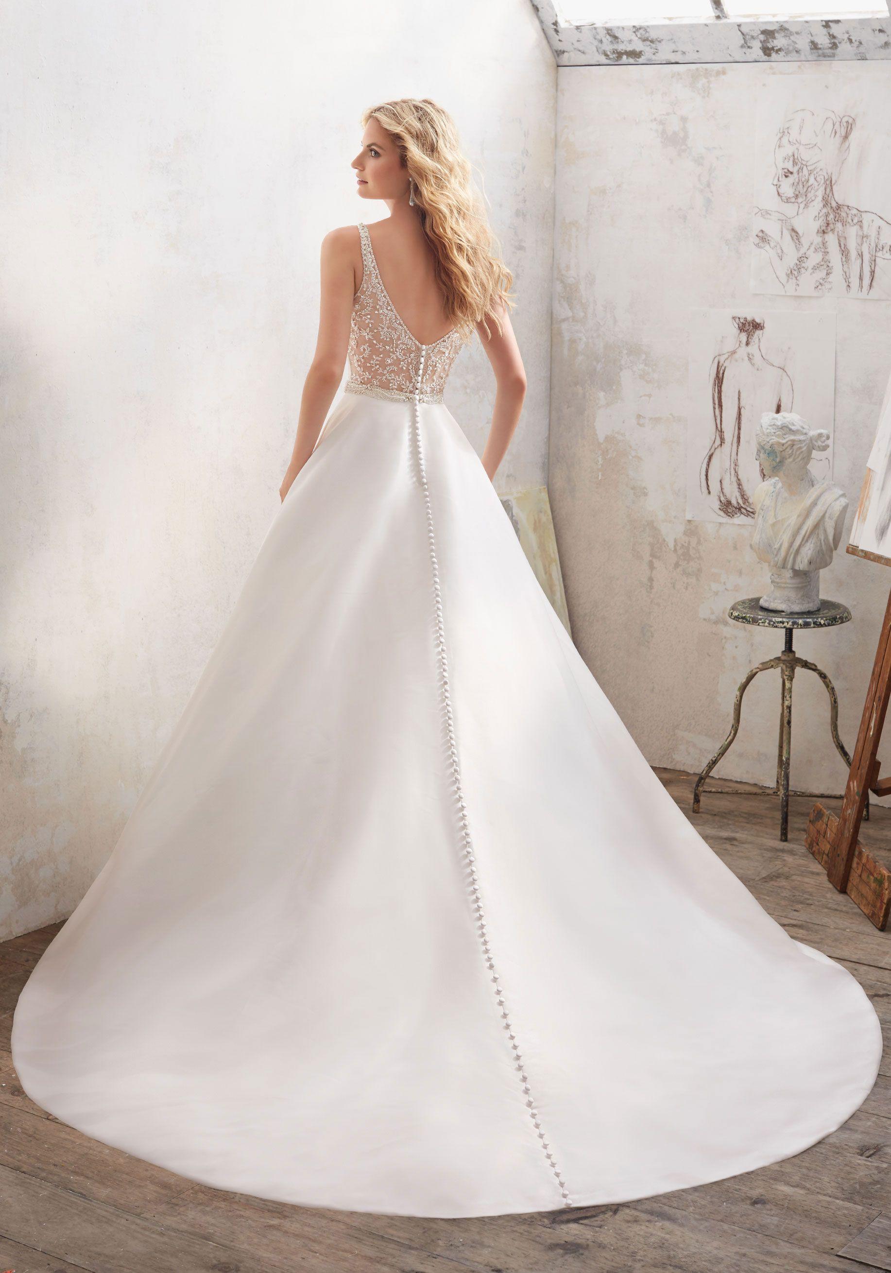 Mori Lee 8123 B Mori Lee Wedding Dress A Line Wedding Dress Wedding Dresses Satin