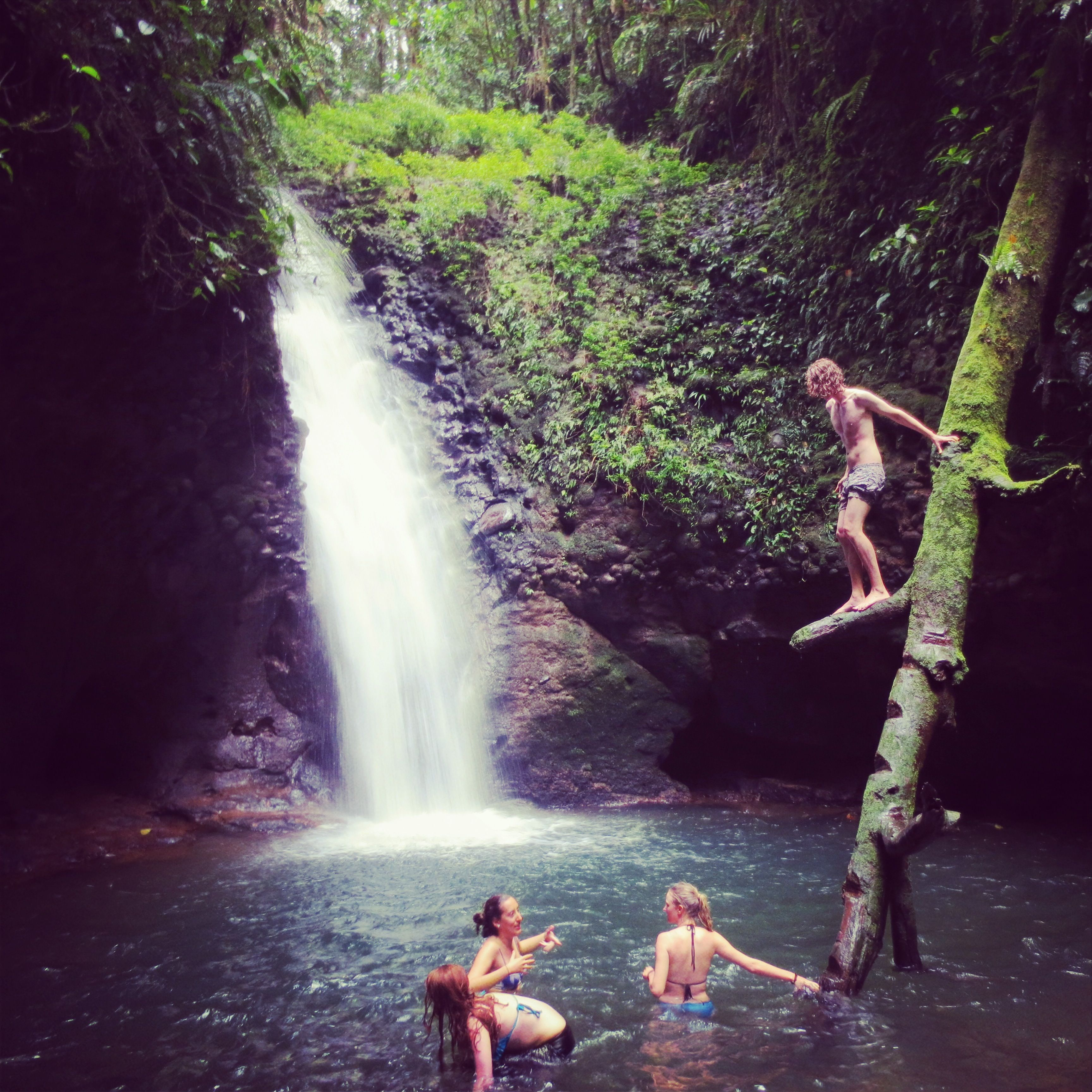 A Waterfall We Stumbled Across In The Amazon Rainforest, Ecuador,