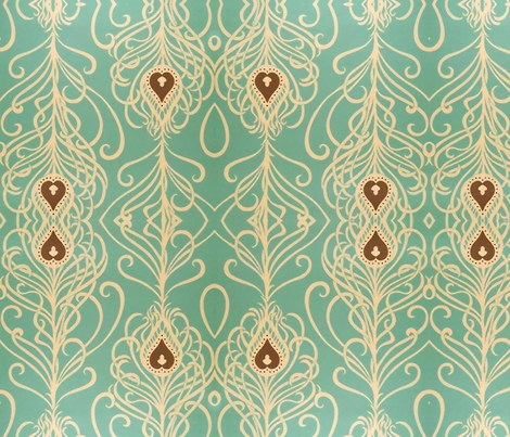 Colorful Fabrics Digitally Printed By Spoonflower Turquoise