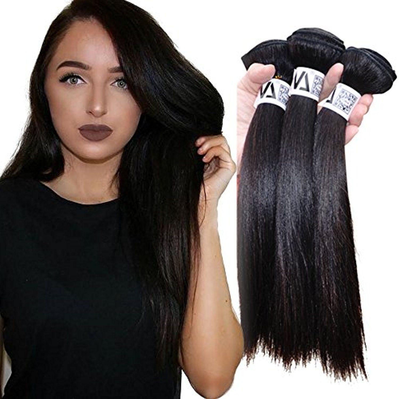 Yonna Deluxe Full Cuticle 10a Grade Hair Style Brazilian Virgin Hair 3 Bundles Set 24 26 28inch Human Hair Wea Brazil Hair Weave Hairstyles Straight Human Hair