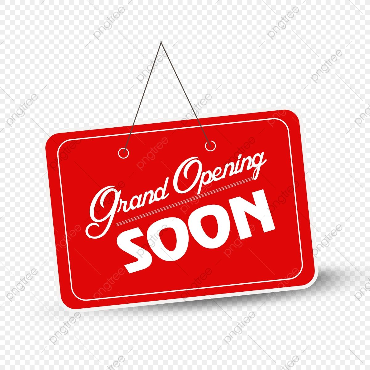 Grand Opening Soon Tag Grand Opening Soon Grand Opening Soon Red Png Transparent Clipart Image And Psd Fi Grand Opening Geometric Pattern Background Clip Art