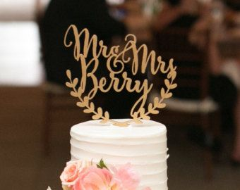 Personalized wedding cake topper mr and mrs by corkcountrycottage wedding cake junglespirit Images