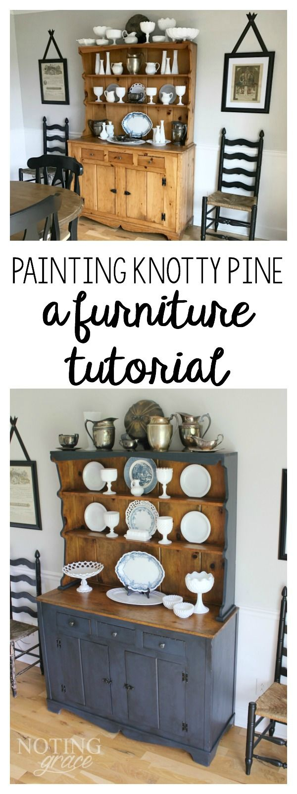 Painting over Knotty Pine | Pine furniture, Pine kitchen ...
