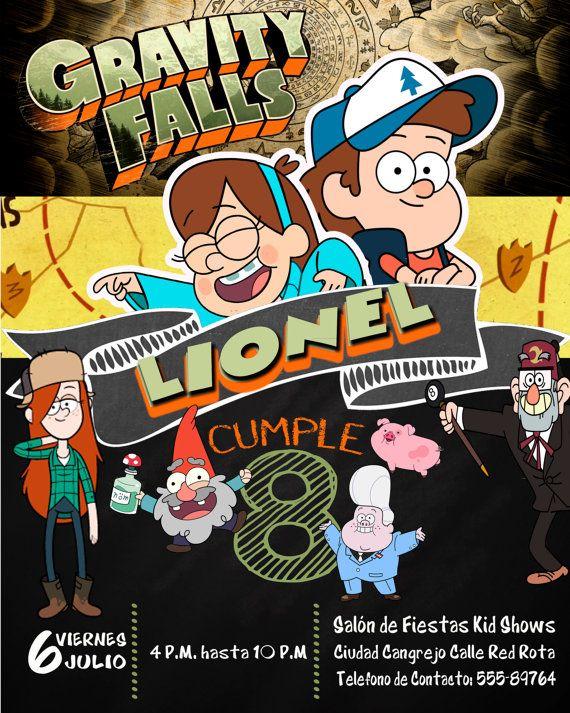Birthday Invitation Gravity Falls Nickelodeon Por
