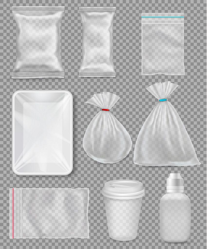 Big Set Of Polypropylene Plastic Packaging Plastic Packaging Design Adobe Illustrator Tutorials Plastic Packaging