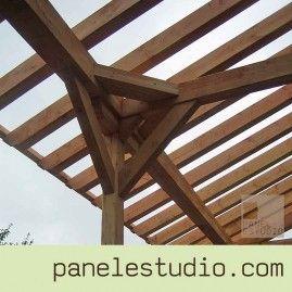 Estructuras de madera. Mecanizado de gran calidad para evitar herrajes.