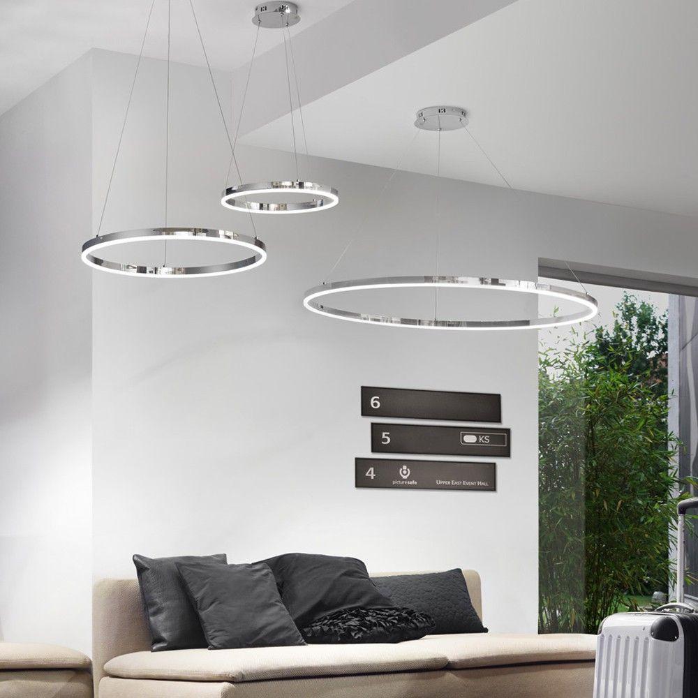 skapetze ring m led h ngeleuchte 60 cm chrom innenleuchten h ngeleuchten s luce die. Black Bedroom Furniture Sets. Home Design Ideas