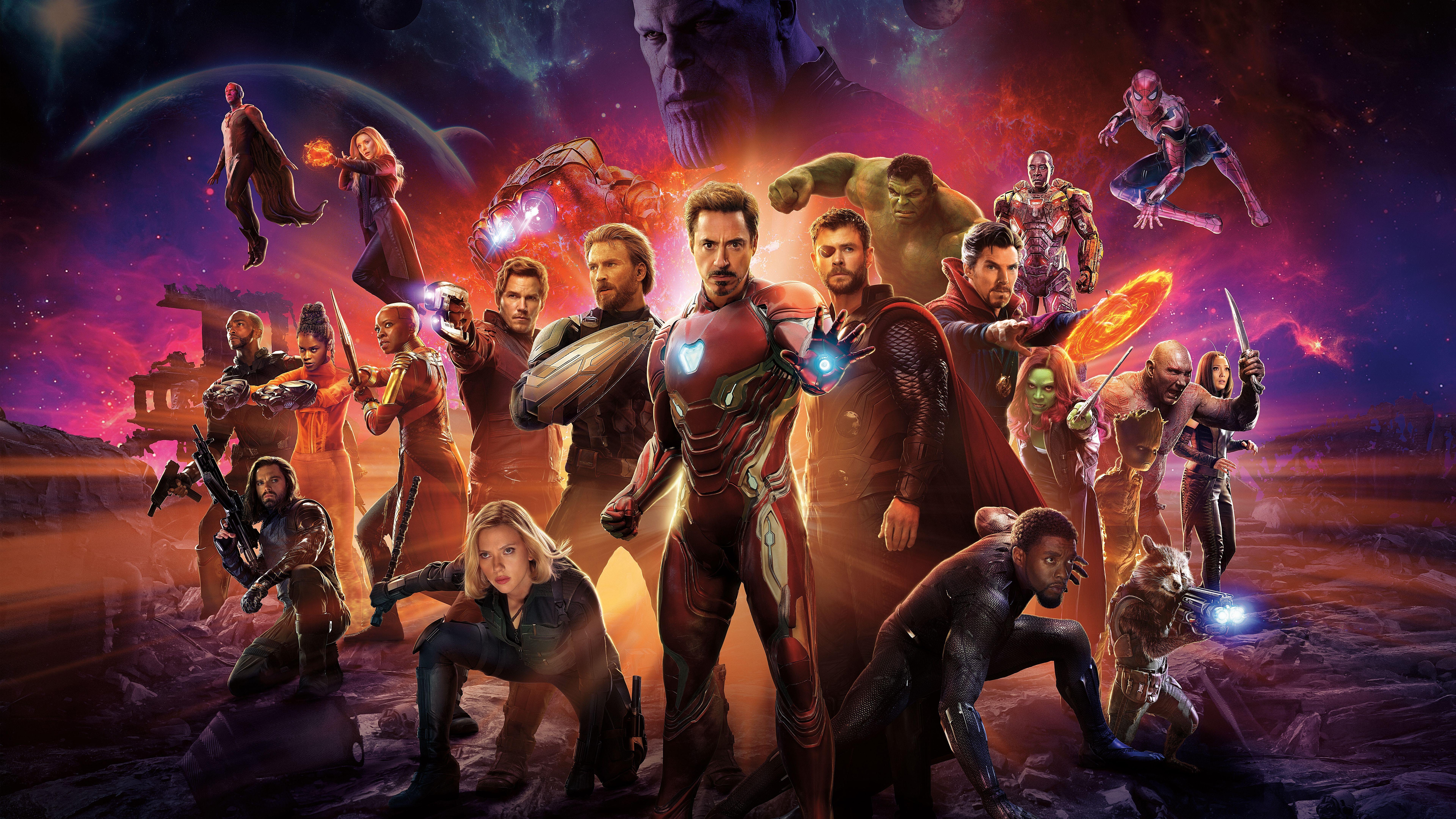 Wallpaper 4k Avengers Infinity War Superheroes Cast 4k 8k Avengers Cast Infinity Superheroes War Vingadores Marvel Vingadores Marvel Filmes