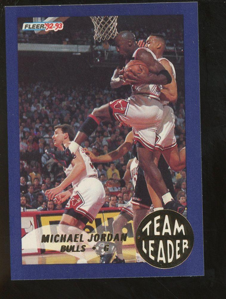 199293 fleer team leader 4 michael jordan chicago bulls