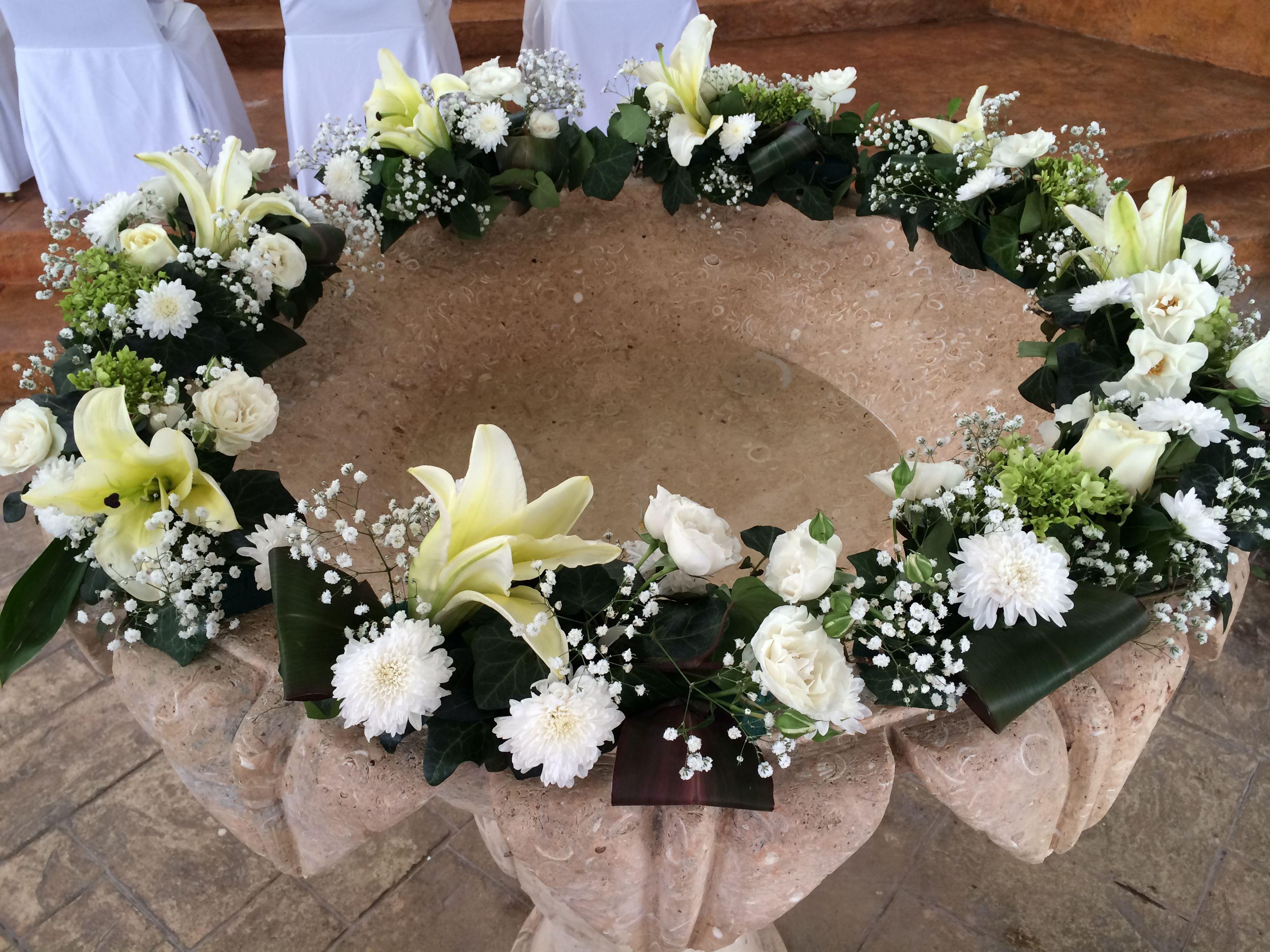 decoraci n de pileta bautismal handmade by ale altar