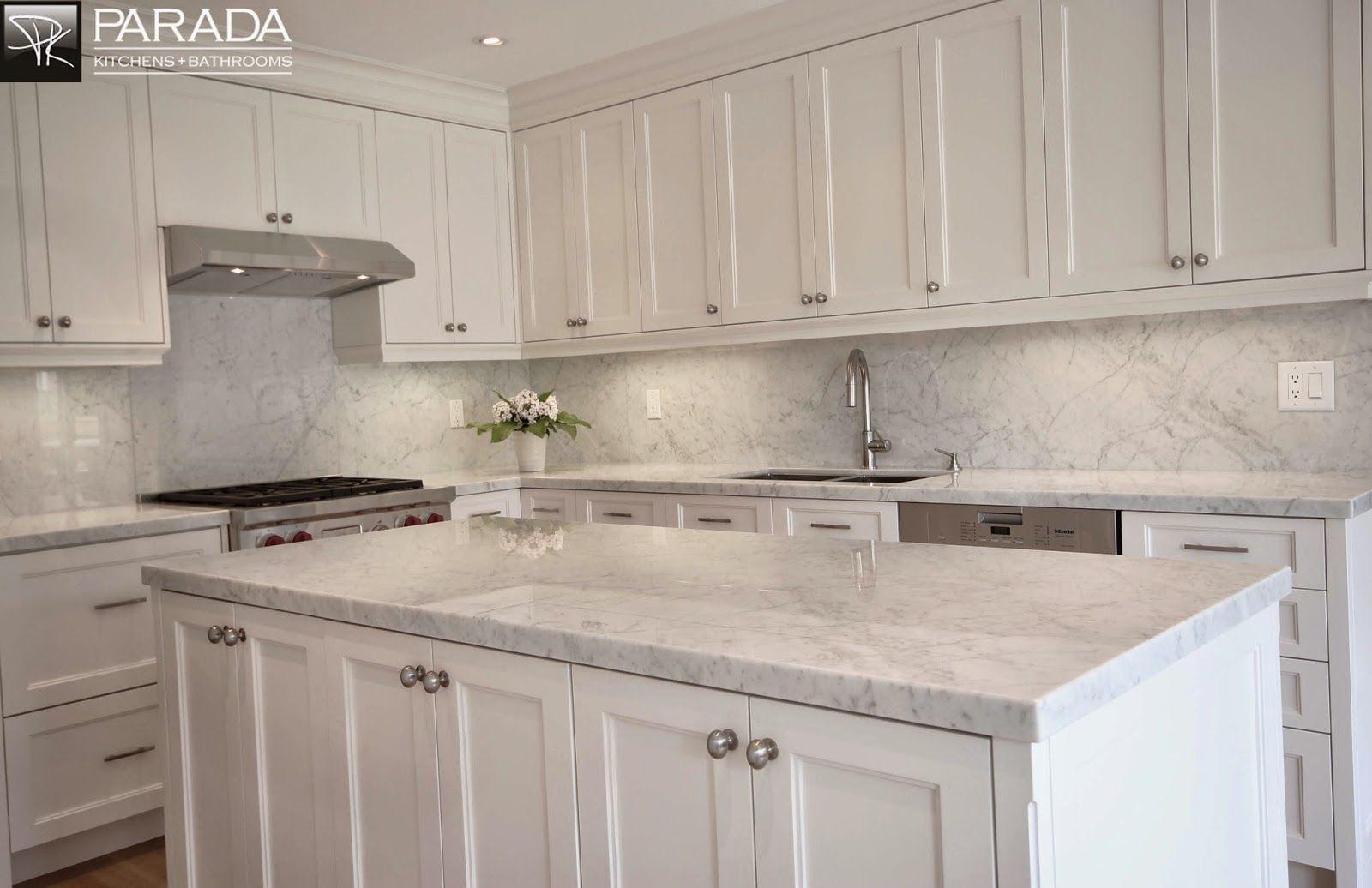 Full Height White Quartz Backsplash Kitchen Remodel Countertops