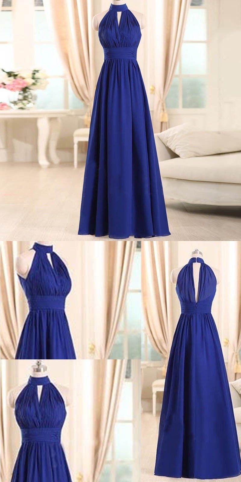 Royal blue bridesmaid dress bridesmaid dress long bridesmaid