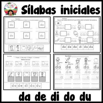 Letra D Silabas Da De Di Do Du Con Imagenes Silabas Letra
