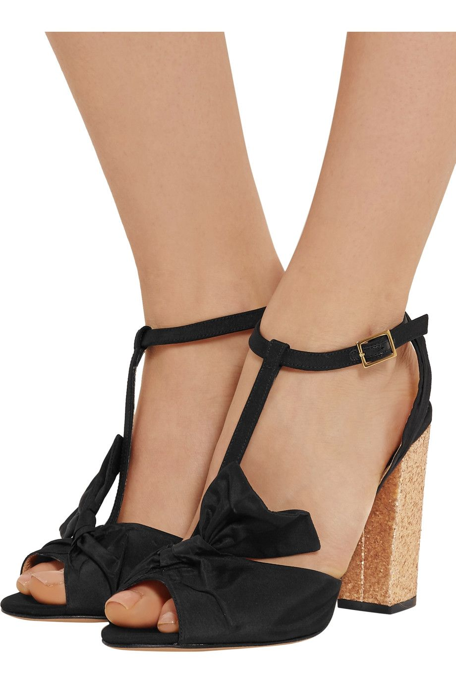 Shop on-sale Charlotte Olympia Odelle bow-embellished faille sandals.  Browse other discount