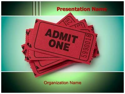 theatre ticket powerpoint template is one of the best. Black Bedroom Furniture Sets. Home Design Ideas