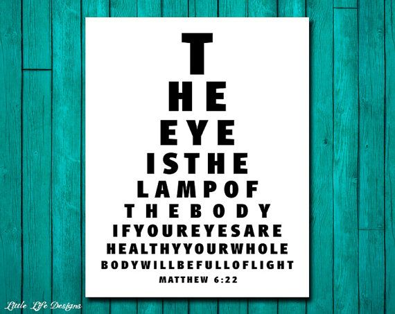 Superbe Eye Chart Wall Art. The Eye Is The Lamp Of The Body. Matthew 6:22. Christian  Decor. Office Decor. Eye Doctor Office Wall Art | Christian Decor, ...