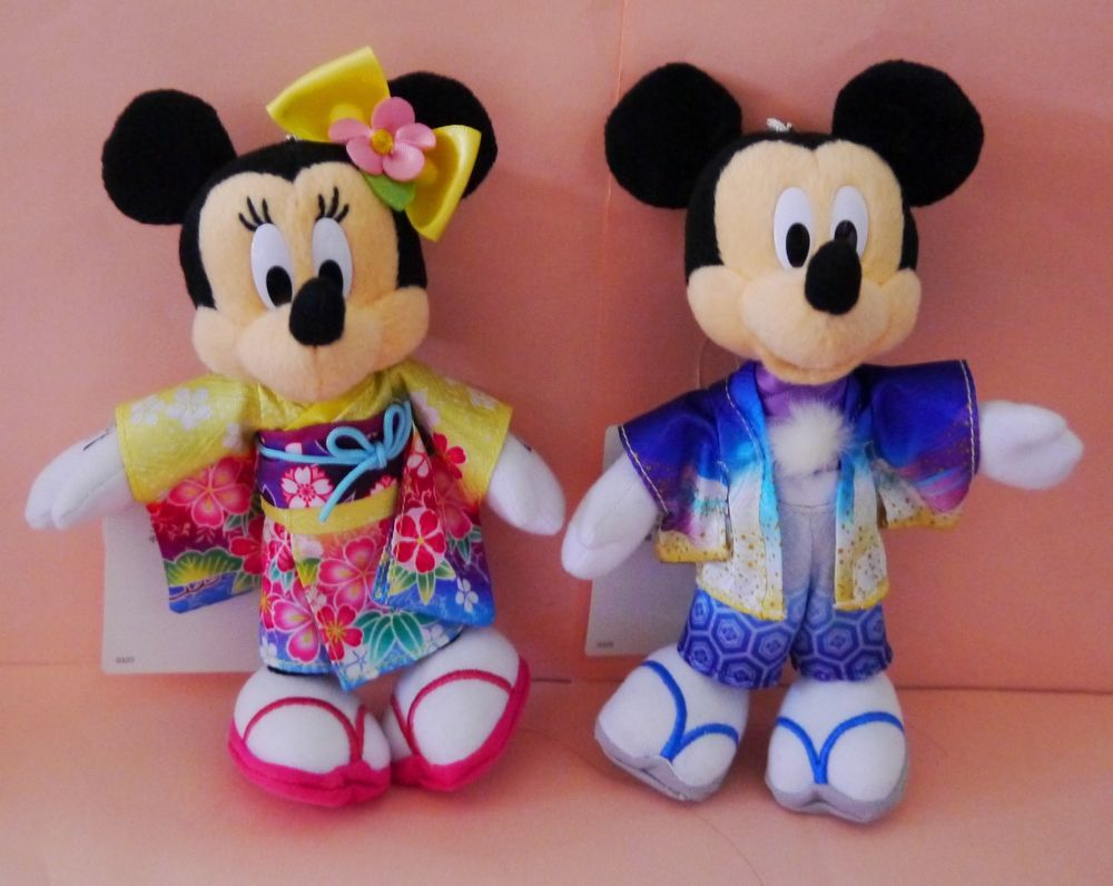 Tokyo Disney 2016 New Year Mickey Minnie Kimono Plush Chain Japan Limited Disney Minnie Disney Japan Mickey And Friends