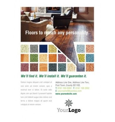Carpet Fitters A6 Leaflets Design Print A6 Flyer Designs