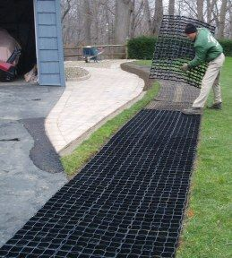 Stabiligrid Grass Driveway Simple Installation With Images Grass Driveway Driveway Design Backyard Landscaping