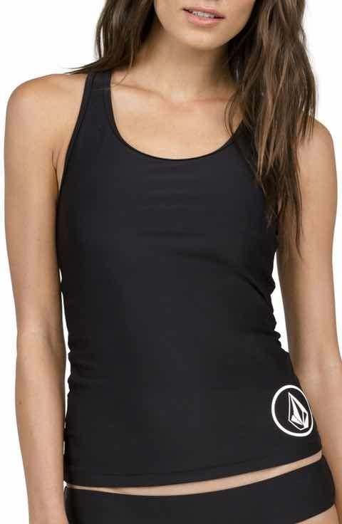 9b0a6d16d923d Volcom Simply Solid Tankini Top ...if you plan on really getting in there  and swimming without worry about placement. This is the suit for you! 2017