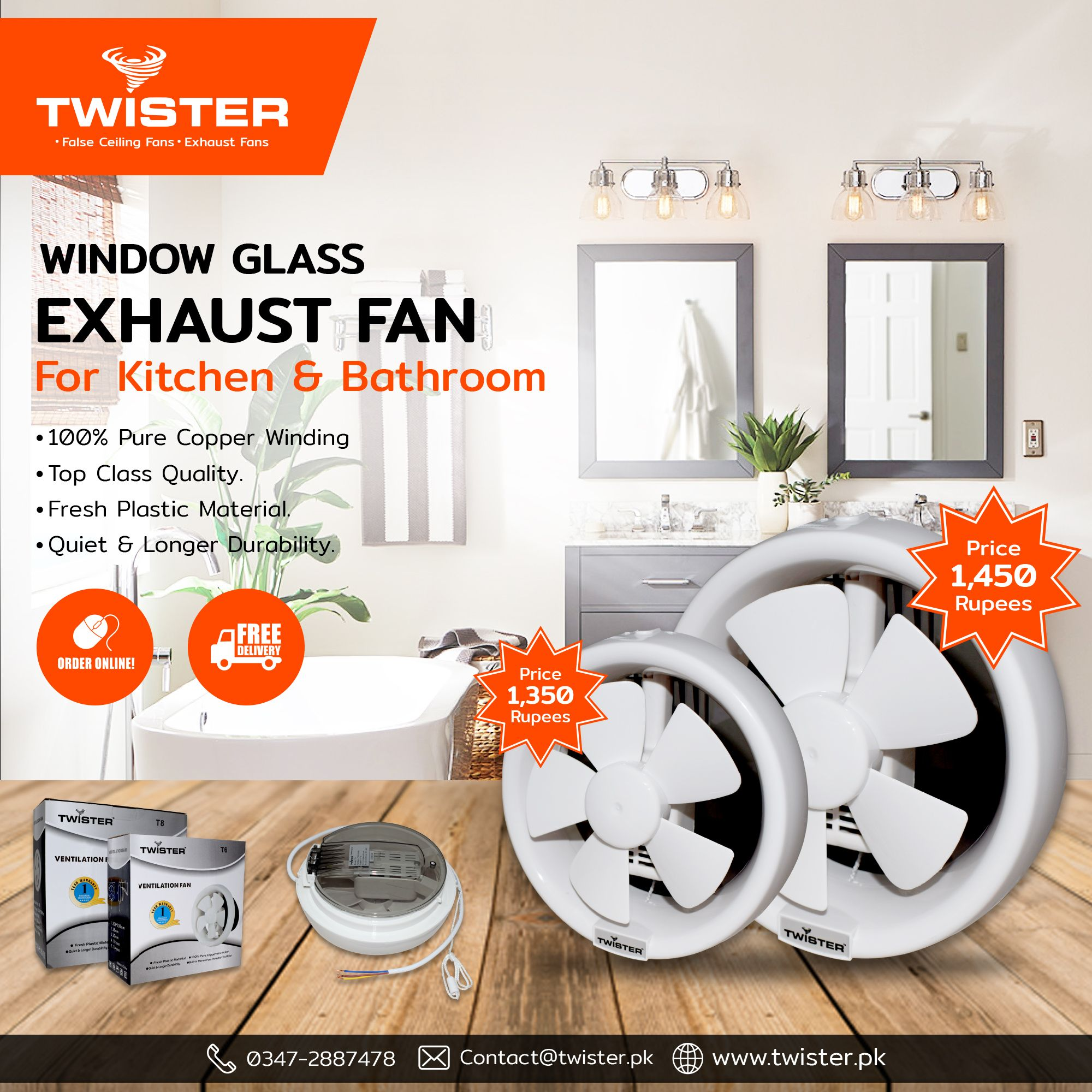 Twister Exhaust Fans 6 Price 1350 8 Price 1450 Free