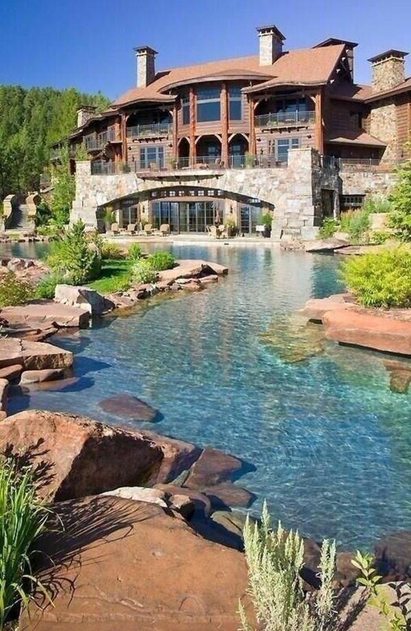 wunderschönes Haus mit künstlichem Teich