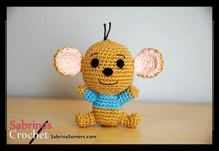 Free Amigurumi Disney Patterns : Roo : the little kangaroo from winnie the pooh free amigurumi