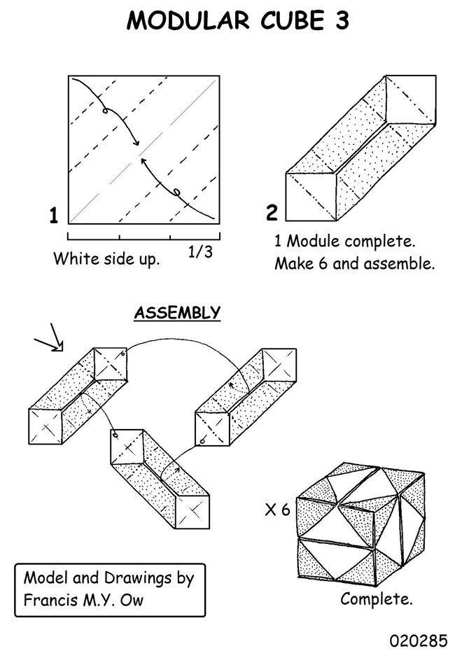 cube modular origami diagrams http www ikuzoorigami com cube rh pinterest com au modular origami diagrams free modular origami cube diagram