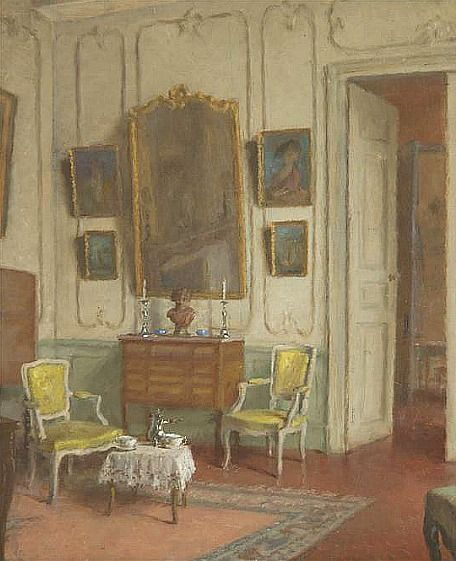 "Leonce J. V. de Joncieres ~ ""White Parlor"", Late 19th - early 20th century"