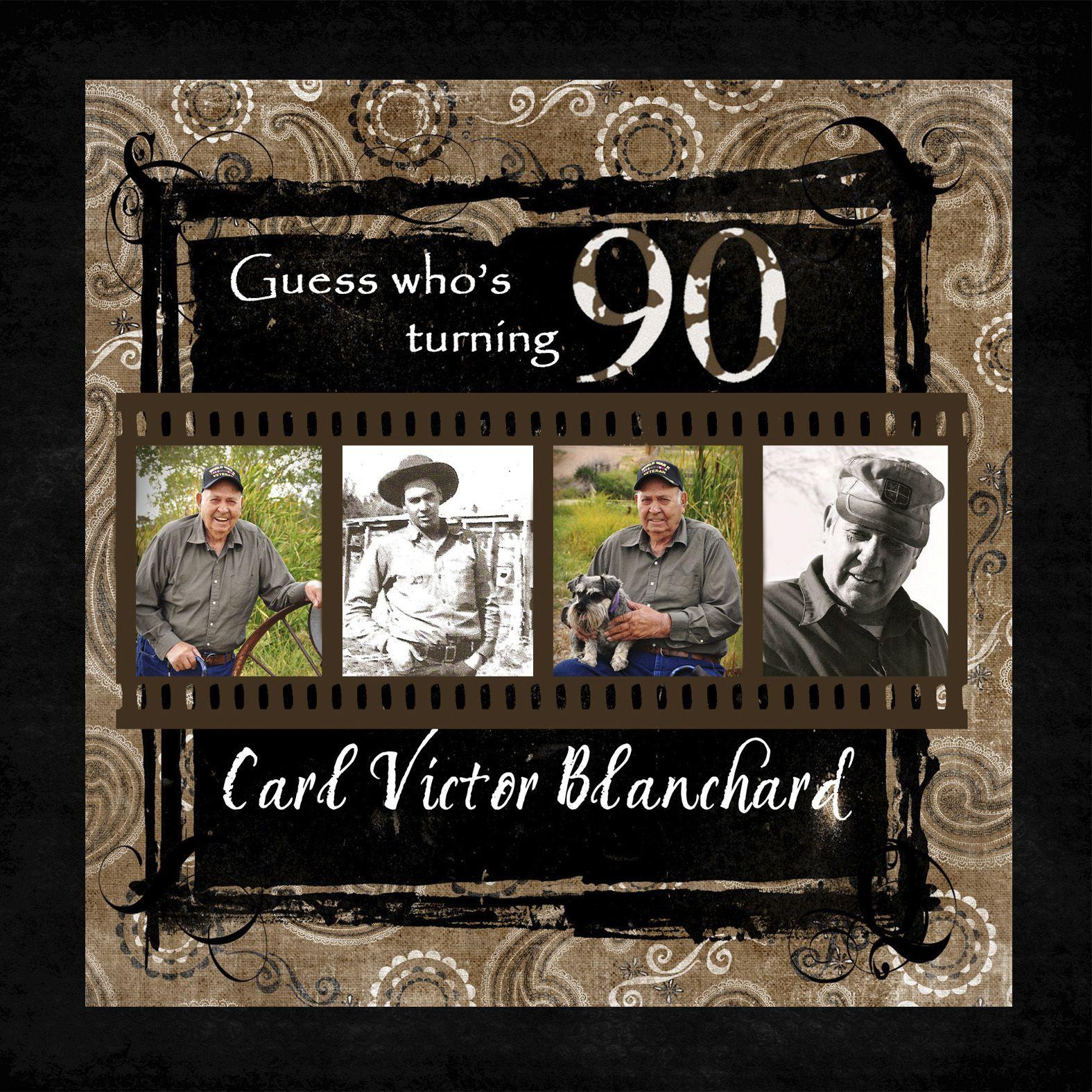 Pleasant My Grandpas 90Th Birthday Invitation 90Th Birthday Parties Personalised Birthday Cards Paralily Jamesorg