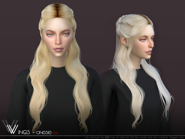 Wingssims Wings On0510 Sims Hair Womens Hairstyles Sims 4