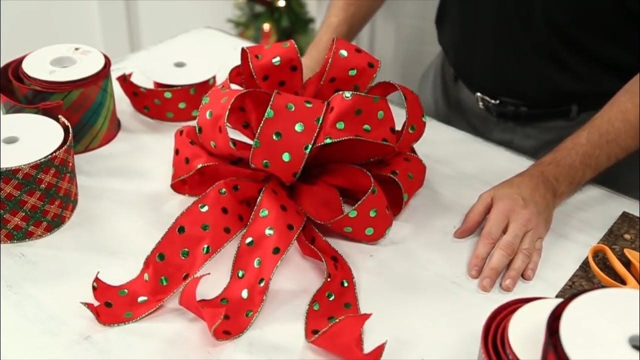 how to tie a bow - How To Tie Decorative Bows For Christmas Decor