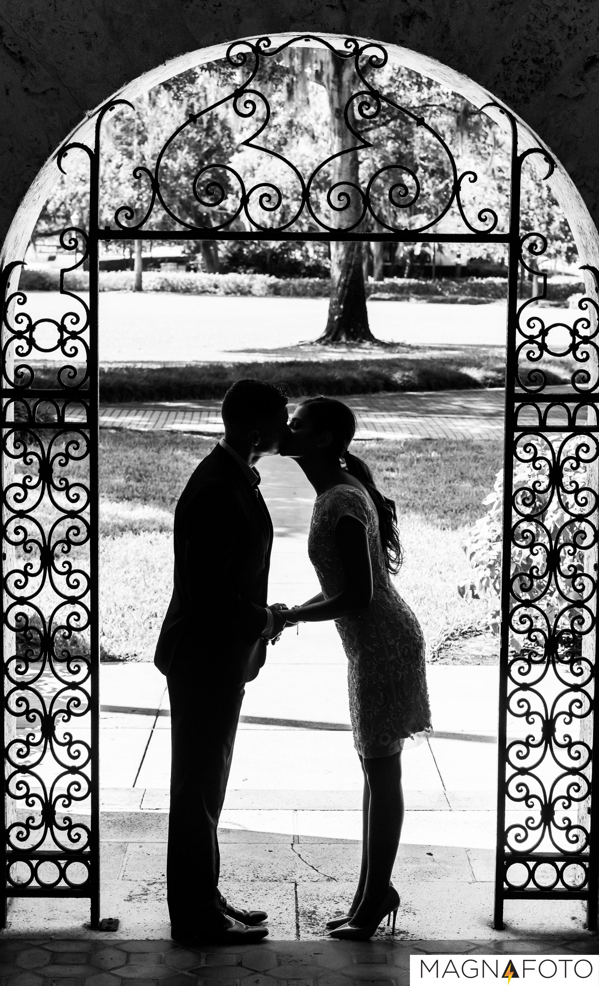 Wonderful silhouette photo of bride and groom  #silhouette #engagement #ideas