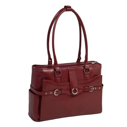 My Franklin Covey Red Leather Briefcase is similar to this one. I've had mine for a few years and still looks like new, and I get positive comments all the time.
