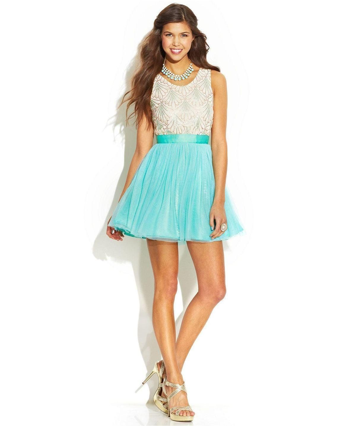 As U Wish Juniors\' Sequin Tulle Dress http://picvpic.com/women ...