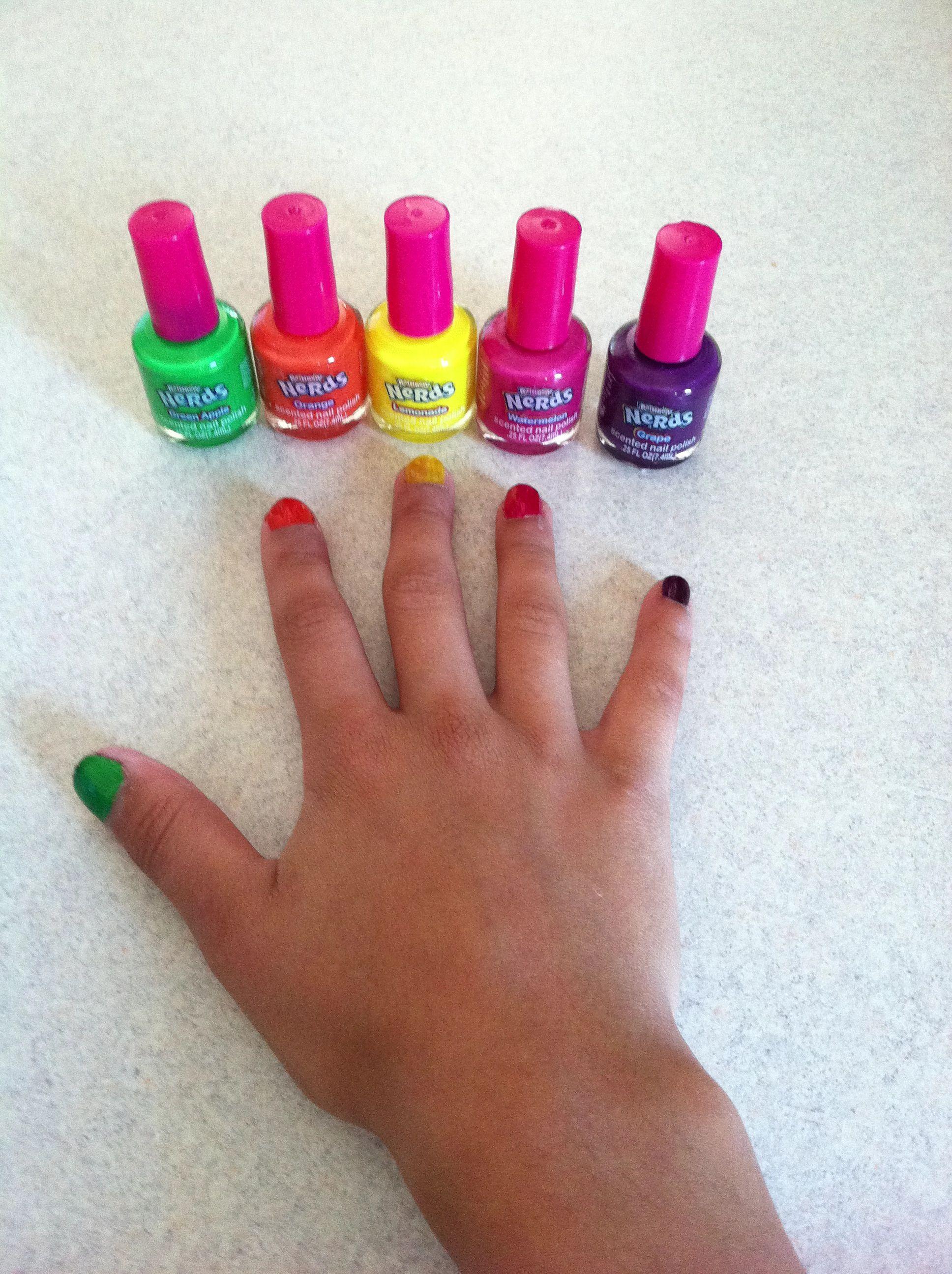 Candy/nerds nail polish | Nails | Pinterest