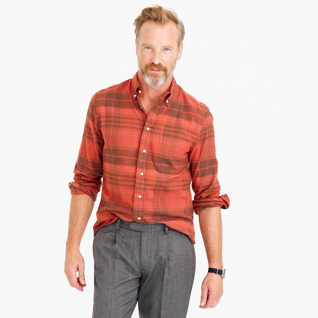 Flannel shirt xs  Gitman Vintage For JCrew Brushed Flannel Shirt Size XS  Flannel