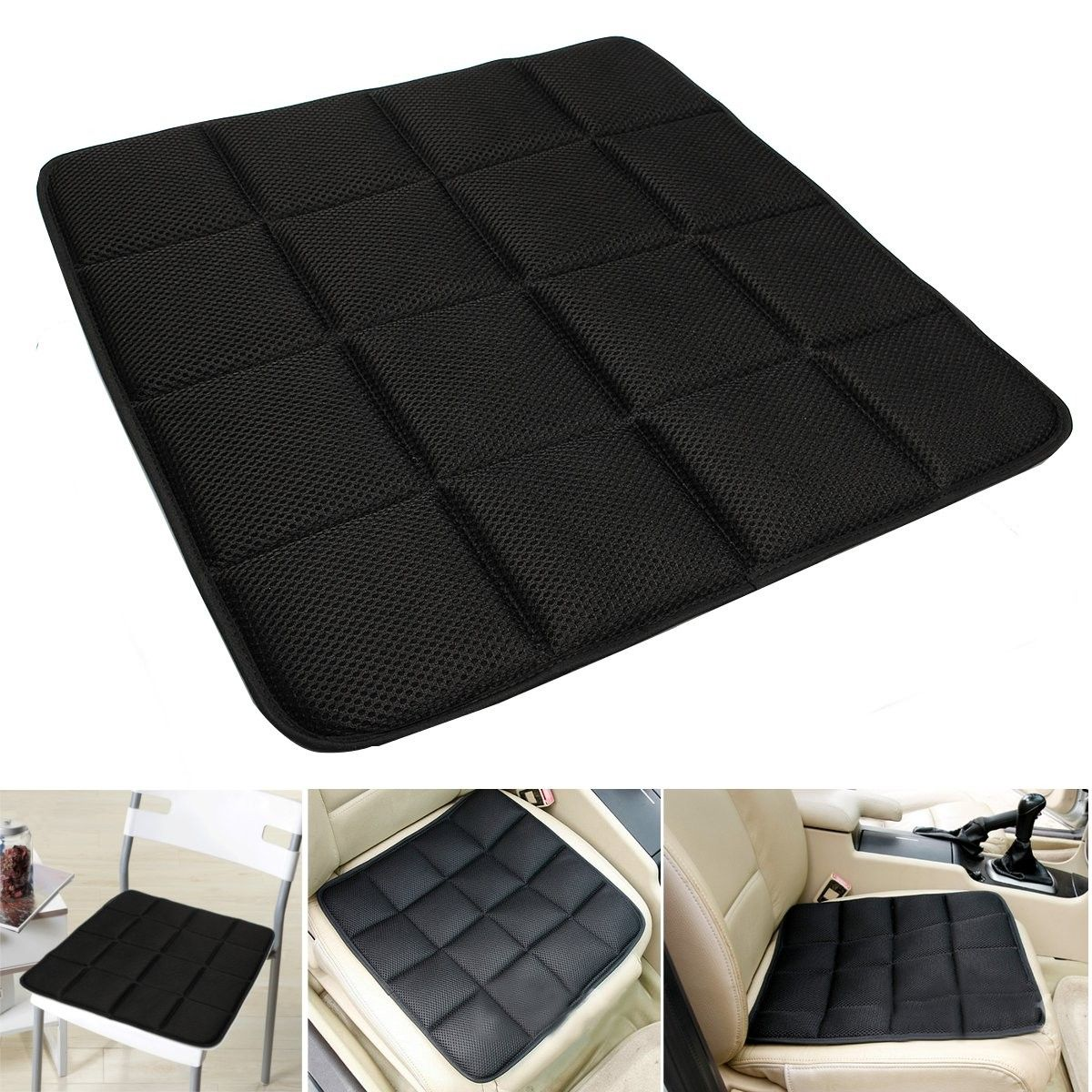 Hot Sale Bamboo Charcoal Breathable Seat Cushion Cover Pad Mat Car