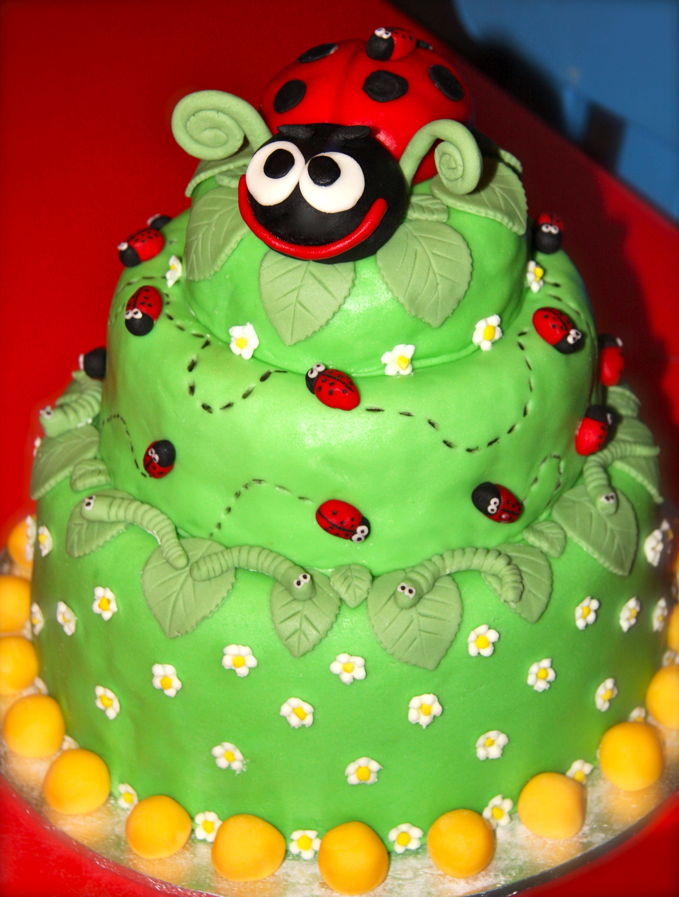 Enchanted garden cake I made for my daughter\'s 2nd birthday party ...