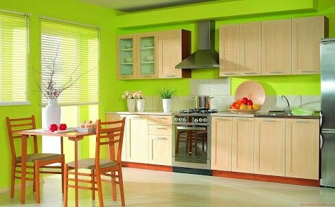 Cocina verde limon | Kitchens and dining rooms | Pinterest | Cocina ...