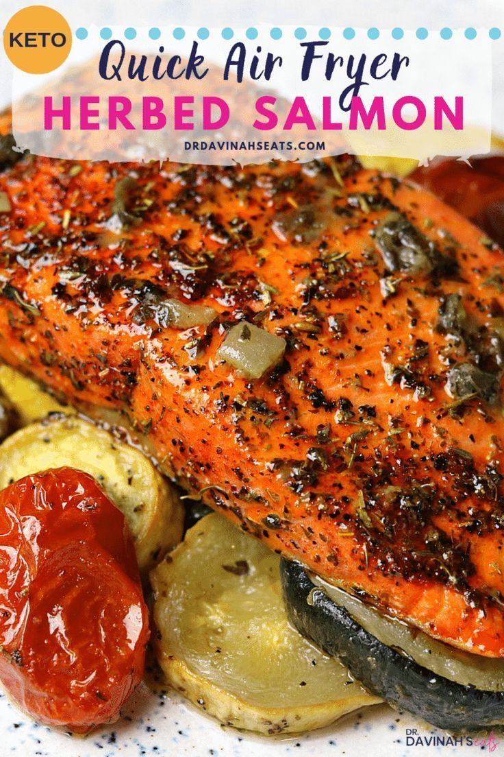Ninja Foodi Air Fryer Herbed Salmon - Keto fish meals