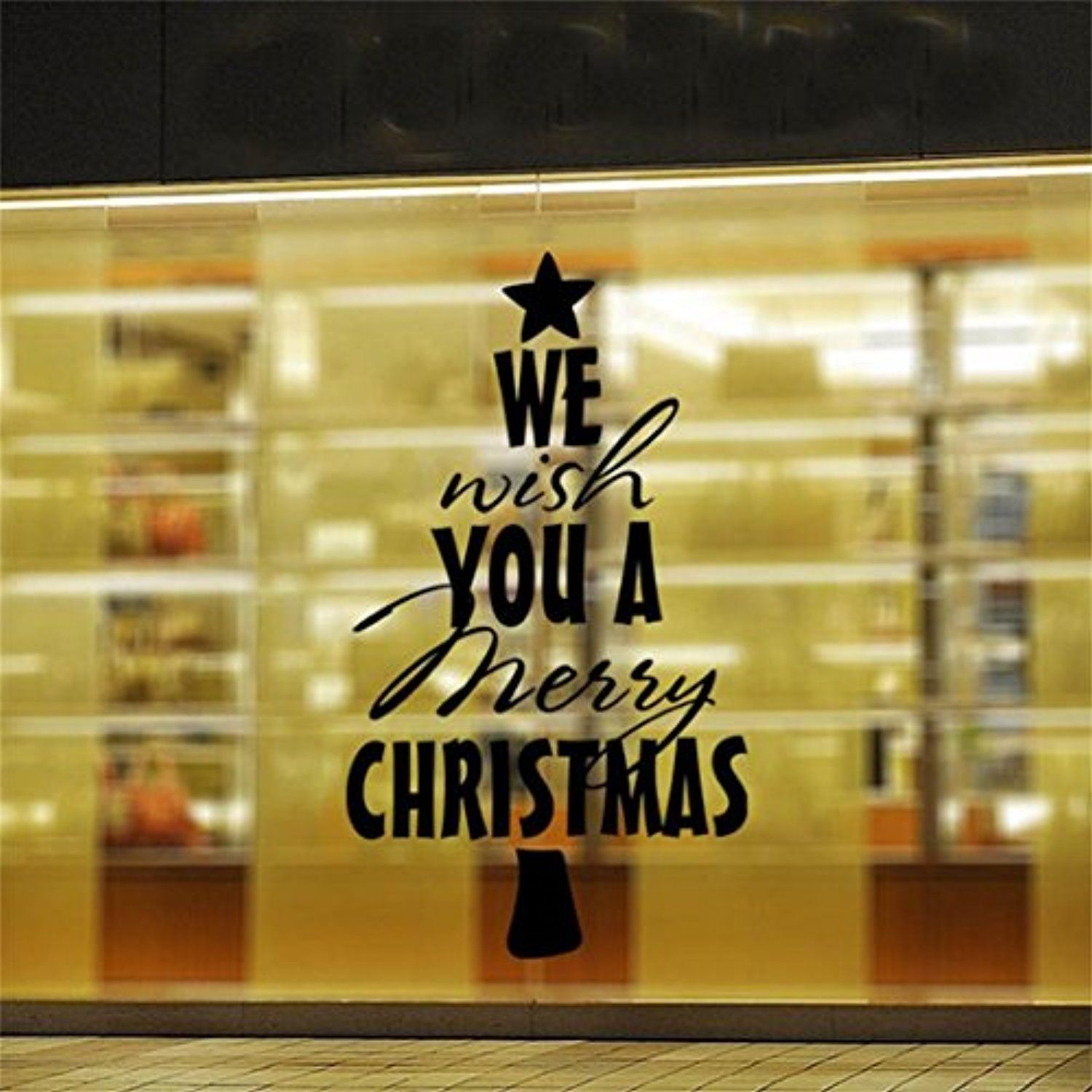 Sticker Wall, ZTY66 Removable \'Wish You Merry Christmas\' Decals PVC ...