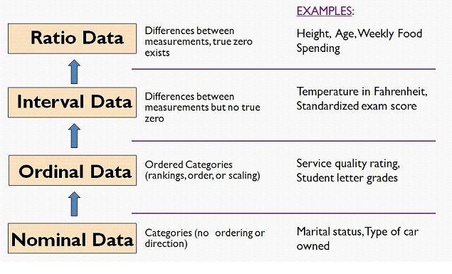 Levels Of Measurement Statistics Math Data Science Learning