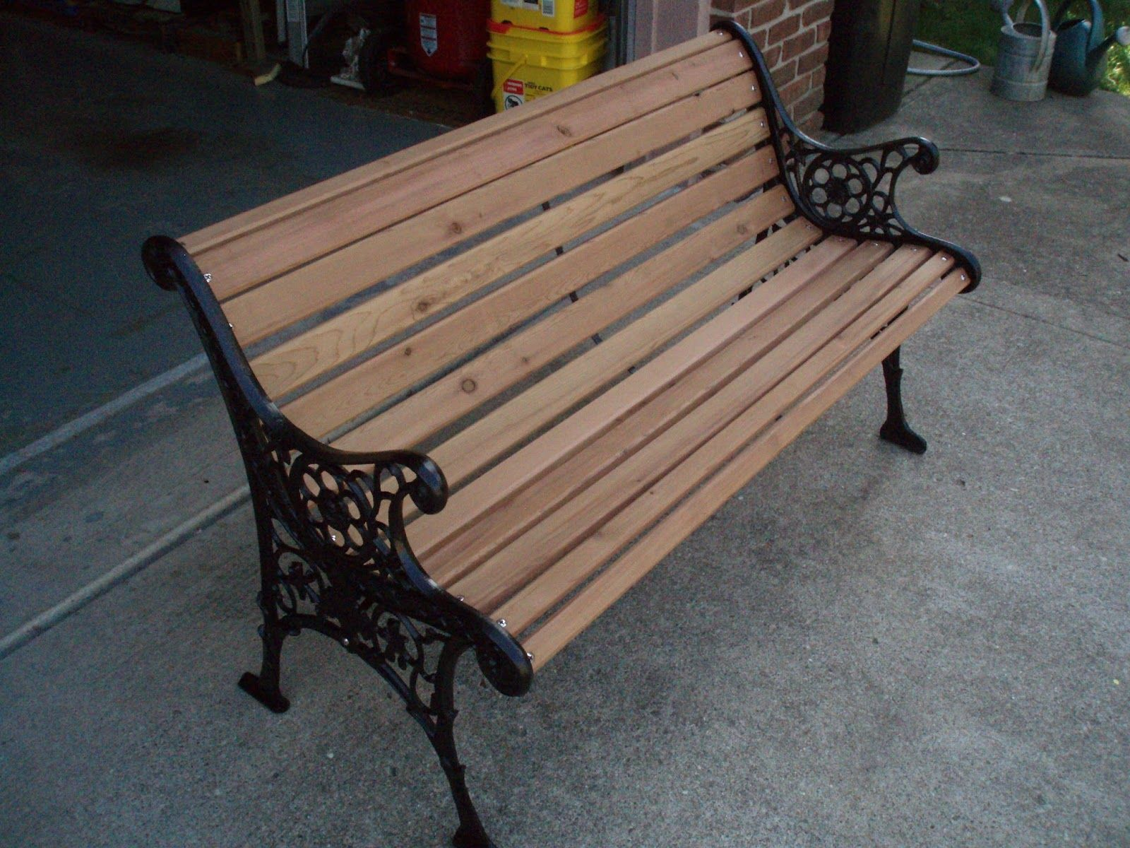 A New Chapter Diy Restoring A Park Bench Wrought Iron
