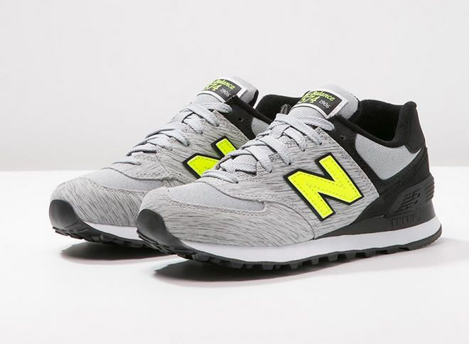 new balance wl574 - baskets basses - grey/black