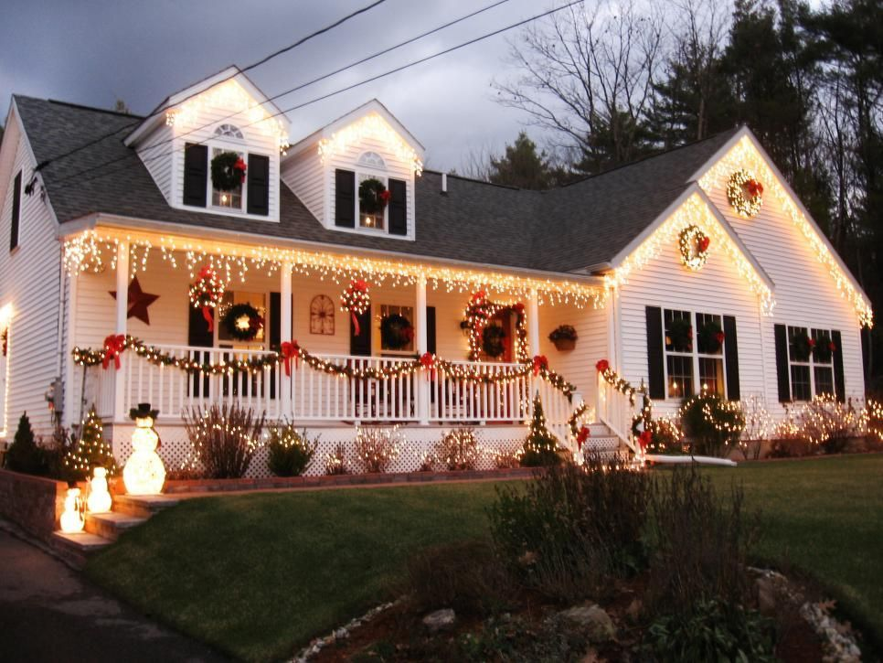 house outdoor lighting ideas design ideas fancy.  Design Fancy Christmas Home Outdoor Decorations Ideas Stunning Design  Ideas Come With Pine Leaf Railing Decoration Red Ribbon And  Throughout House Lighting