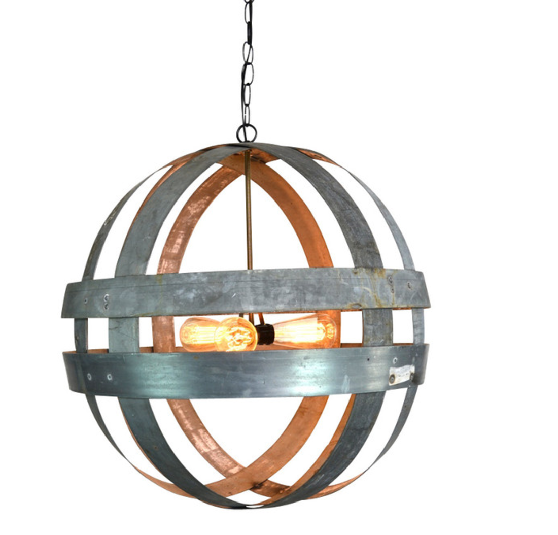 Front Porch Wine Barrel Double Ring Chandelier Atom Cyclopean See Houzz Idea