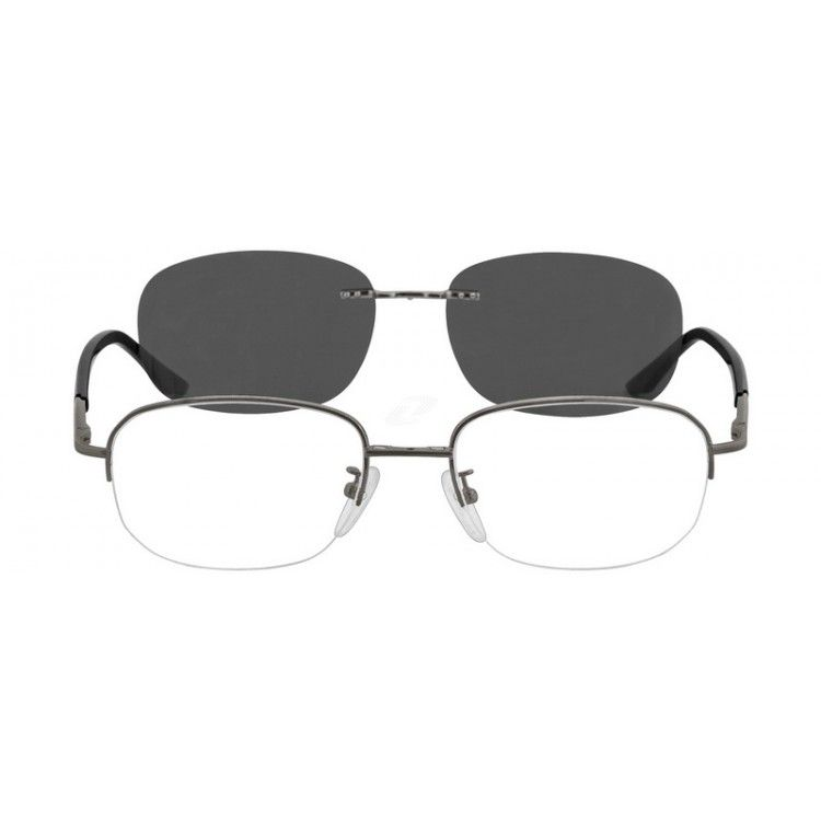 317d07021f A half rim frame with matching polarized magnetic sunshade snap-on lens....Price  -  27.95